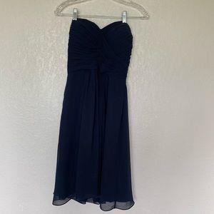 Navy sleeveless bridesmaid dress